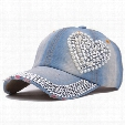 Fashion Crystal Denim Baseball Cap Hat Rhinestone Snapback Caps For Women Hip Hop Hats