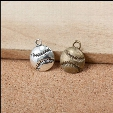 Online Wholesale Sporty Charms Single Sided Baseball Shape Alloy Charms 100pcs Free Shipping AAC142