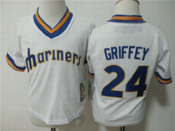 Toddler 24 Ken Griffey Jr Seattle Mariners Ken Griffey J Rbaseball Jersey 2t-4t Baby Stitched Embroidery Logos
