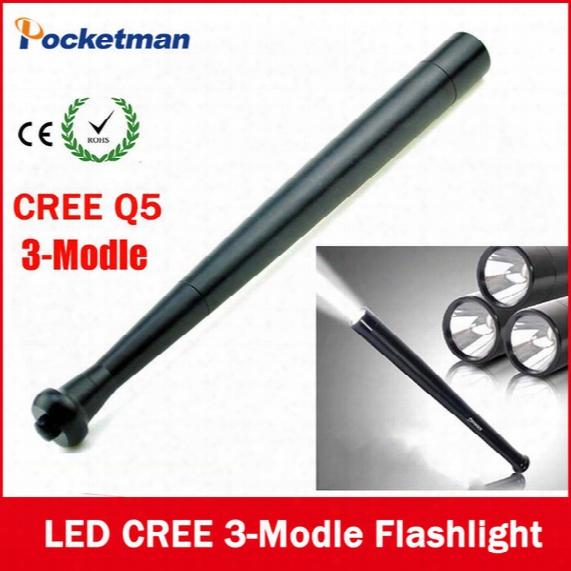 Ultra Bright Mini Cree Q5 3-modle Led Flashlight Torchbaseball Bat Way To Dropshipping Security