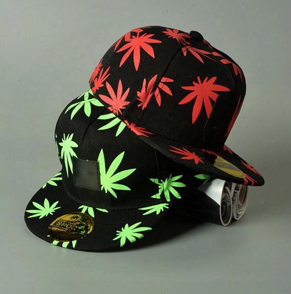 Wed Snapbacks Caps Hats Wed Pot Leaf Snapbacks Wed Hip-hop Rasta Maple Leaf Caps Plantlife Fashion Baseball Hip-hop Ballcaps D469 3pcs