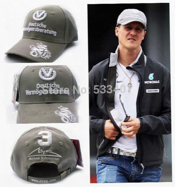 Wholesale-2015 Limited Edition Schumacher Motorcycle Gp F1 Racing Car 100% Embroidery Outdoor Casual Snapbacks Baseball Fashion Cap Hat
