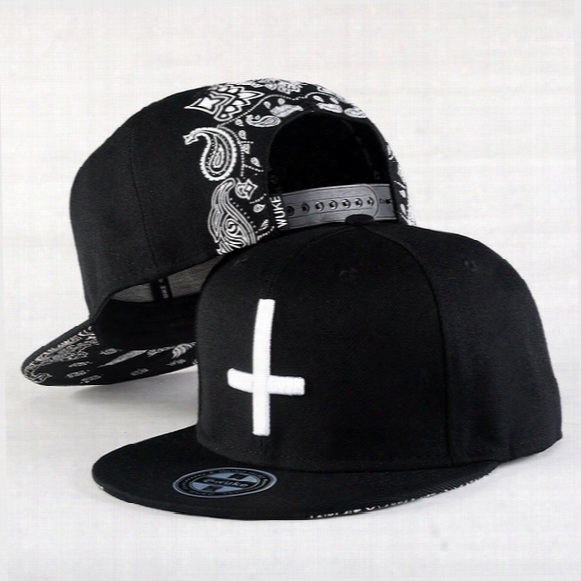 Wholesale- 2015 New Brand Street Dance Cool Hip Hop Caps Embroidery Cross Snapback Snap Back Baseball Caps Hats Bone Hat Free Shipping