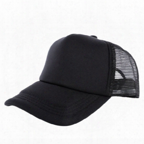 Wholesale-cozy Unisex Attractive Casual Men Women Summer Hat Solid Baseball Cap Trucker Mesh Blank Visor Hats Adjustable