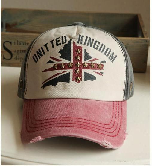 Wholesale-fashion Baseball Cap Uk Letter Print Sports Cap Sun-shading Hat Male Women's Summer Sun Hat Sunbonnet Male Cap