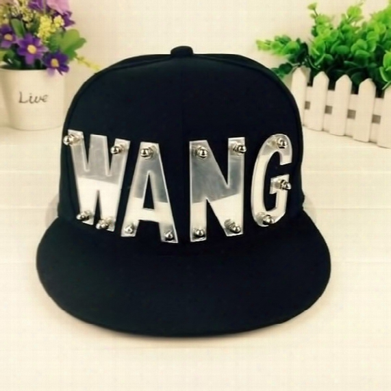 Wholesale- Kpop Got7 Jackson Adjustable Cap Baseball Hat Snapback Wang Caps Sunhat Shjustable Hat For Man Woman