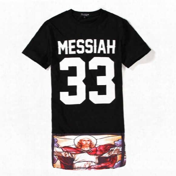 Wholesale-men Baseball T Shirt Tyga Cool Messiah 33 Oversized Harajuku Short Sleeve Lengthen Skirt Casual-shirt Bandana Loose Tops Tees