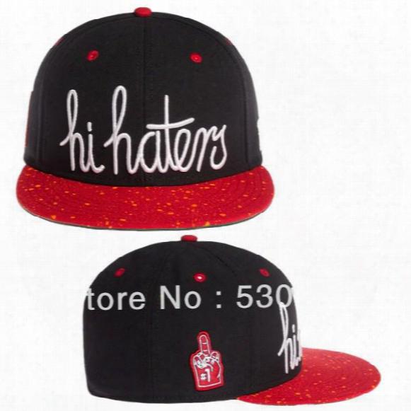 Wholesale-new Arrival Hi Haters Snapback Cap High Quality Men Cheap Sport Baseball Caps Women Hip Hop Hat! Free Shipping!!