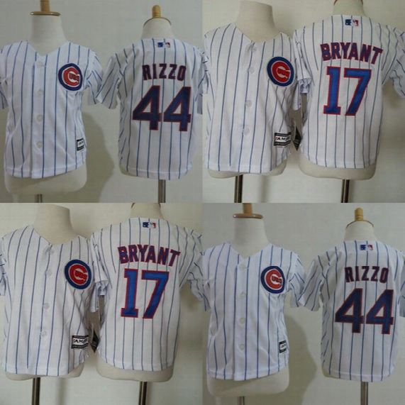 Wholesale Toddler #17 Kris Bryant #44 Anthony Rizzo 2017 Chicago Cubs Jersey All Stitched Baby Baseball Jerseys 2t-4t Free Shipping