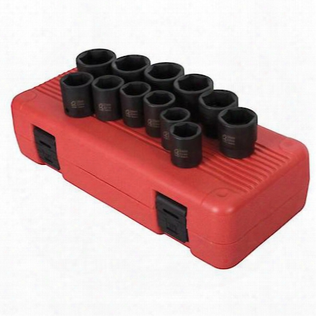 "12 Piece 1/2"" Drive Metric Impact Socket Set"