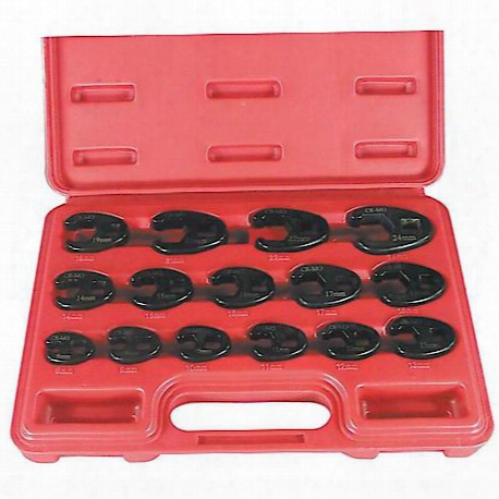 15 Piece Professional Metric Crowfoot Wrench Set