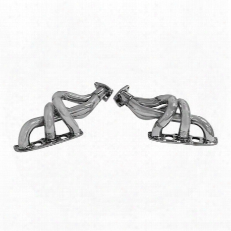 3-1 Header, Polished Stainless Steel, 2 Pc.