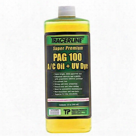 32 Oz. Bottle Pag 100 A/c Oil With Dye
