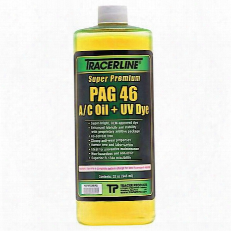 32 Oz. Bottle Pag 46 A/c Oil With Dye