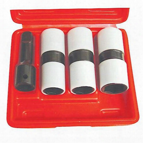 "4 Piece 1/2"" Drive Thin Wall Flip Impact Socket Set With Protective Sleeves"