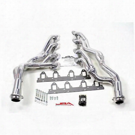 "6655sjs 1 3/4"" Header Long Tube Stainless Steel 67-70 Mustang 390/427/428 Cobra Jet Silver Ceramic"