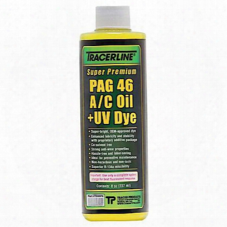 8 Oz. Bottle Pag 46 A/c Oil With Dye