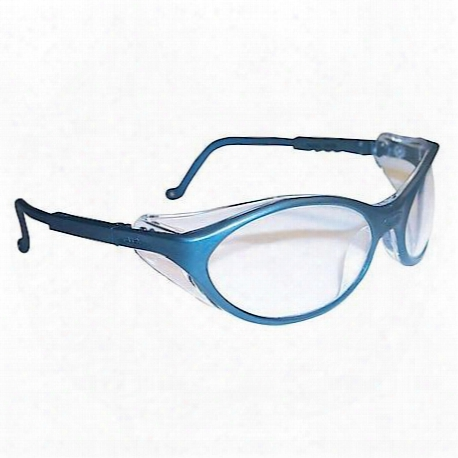 Bandit Slate Blue Frame Safety Glasses With Clear Ud Lens