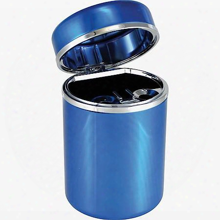 Blue Aluminum Ashtray
