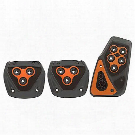 Orange Performance Manual Pedal Pad Set