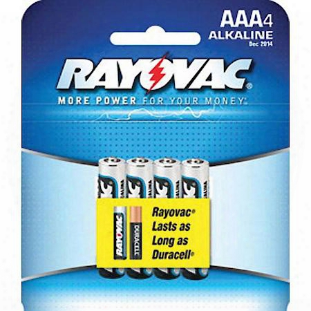 Rayovac Alkaline Aaa Batteries 4-pack