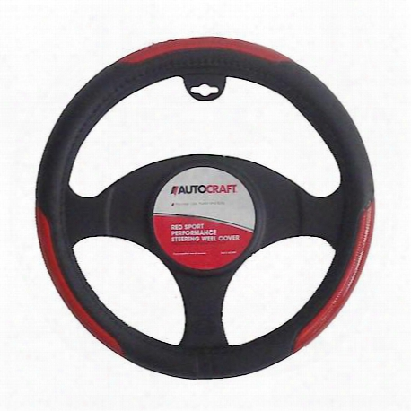 Red Sport Performance Steering Wheel Cover