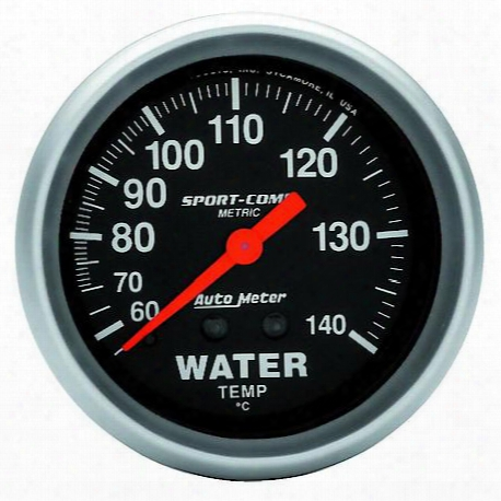 Sport-comp Mechanical Metric Water Temperature Gauge