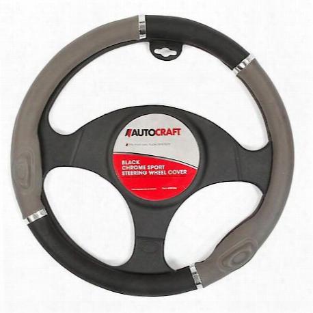 Steering Wheel Cover Sport Black Grey