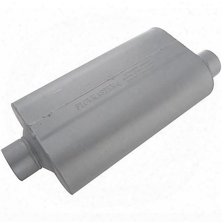 Super 50 Muffler 409s - 3.00 Center In / 3.00 Offset Out - Mild Sound