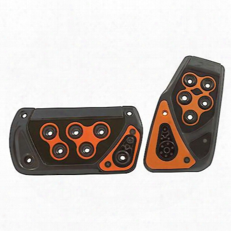 Tuner Tri-glo Pedal Set, Orange 2 Piece