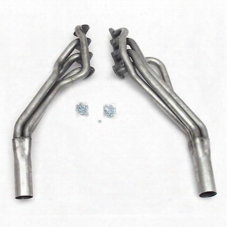 """6673s 1 5/8"""" Header Long Tube Stainless Steel 05-10 Mustang Gt 3"""" Collector"""