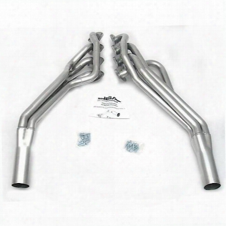 "6673sjs 1 5/8"" Header Long Tube Stainless Steel 05-10 Mustang Gt 3"" Collector Silver Ceramic"