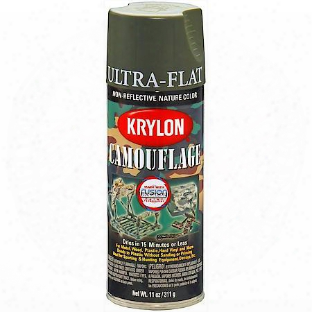 Camouflage Paint With Fusion Technology, Olive, 12 Oz, Aerosol