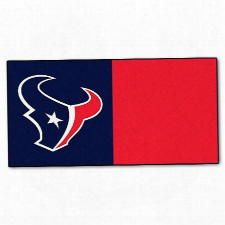 Fanmats Team Carpet Tiles - Houston Texans, 18 Inchx18 Inch - 8566