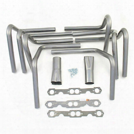 "H8010 1 5/8""x3 1/2"" Header Roadster/sprint Car Weld-up Kit Small Block Chevy"