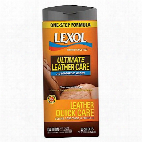 Leather Quick Care Wipes (25 Sheets)