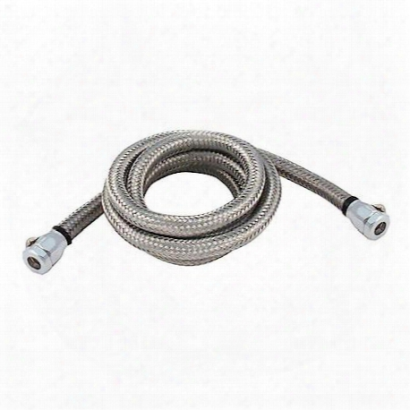Stainless Steel Flex 3/8 In Filter Line Kit 3 Ft W/chrome Clamps