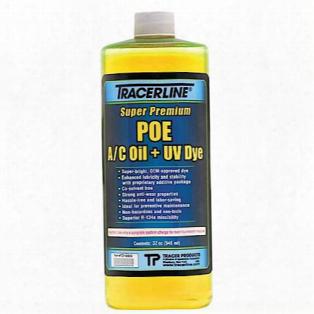 Tracer Products 32 Oz. Bottle Poe A/c Oil With Uv Dye - Tratd100eq