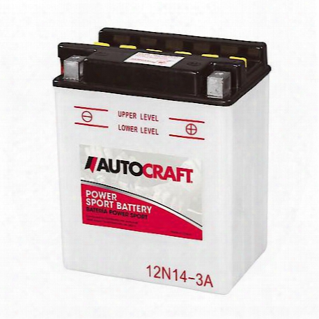 Autocraft Poweraports Battery, 12n14-3a, 128 Cca - 12n14-3a