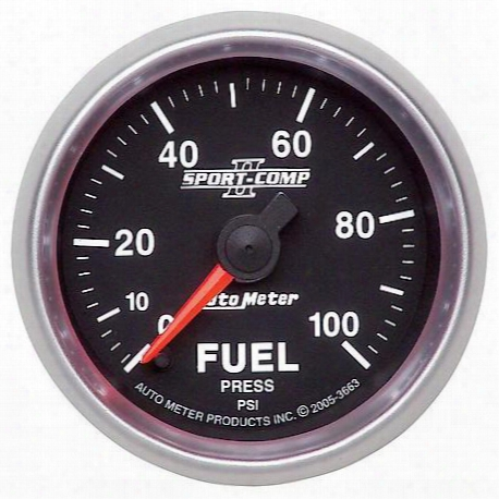 Autometer Sport-comp Ii Electric Fuel Pressure Gauge - 3663