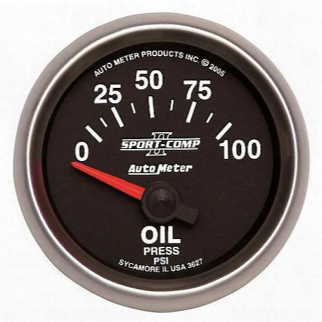 Autometer Sport-comp Ii Electric Oil Pressure Gauge - 3627