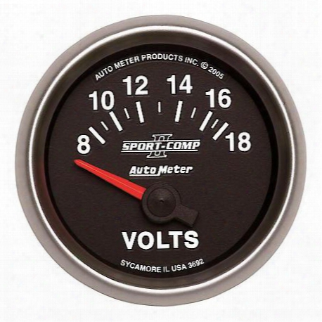 Autometer Sport-comp Ii Electric Voltmeter Gauge - 3692
