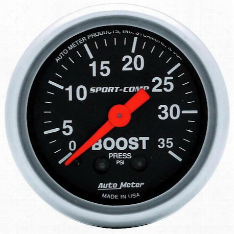 Autometer Sport-comp Mechanical Boost Gauge - 3304