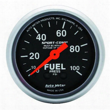 Autometer Sport-comp Mechanical Fuel Pressure Gauge - 3312