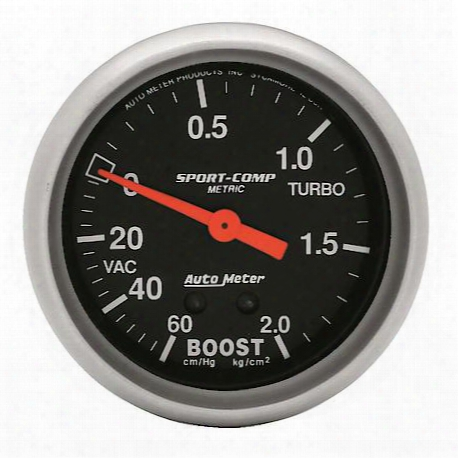 Autometer Sport-comp Mechanical Metric Boost/vacuum Gauge - 3401-j