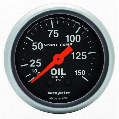 Autometer Sport-comp Mechanical Oil Pressure Gauge - 3323