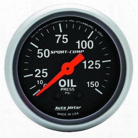 Autometer Sport-comp Mechanical Oil Pressure Gauge - 3323