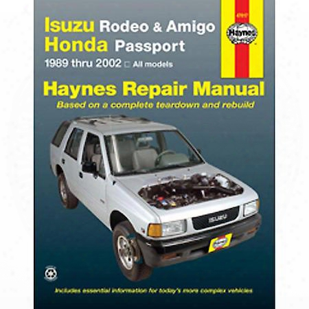 Haynes Isuzu Rodeo/honda Passport '95-'02 Repair Manual - 47017