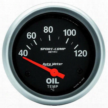 Autometer Sport-comp Electric Metric Oil Temperature Gauge - 3542-m