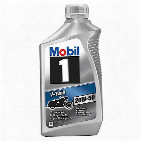 Mobil1 V-twin 20w-50 4-cycle Motorcycle Oil (1 Quart) - 112630
